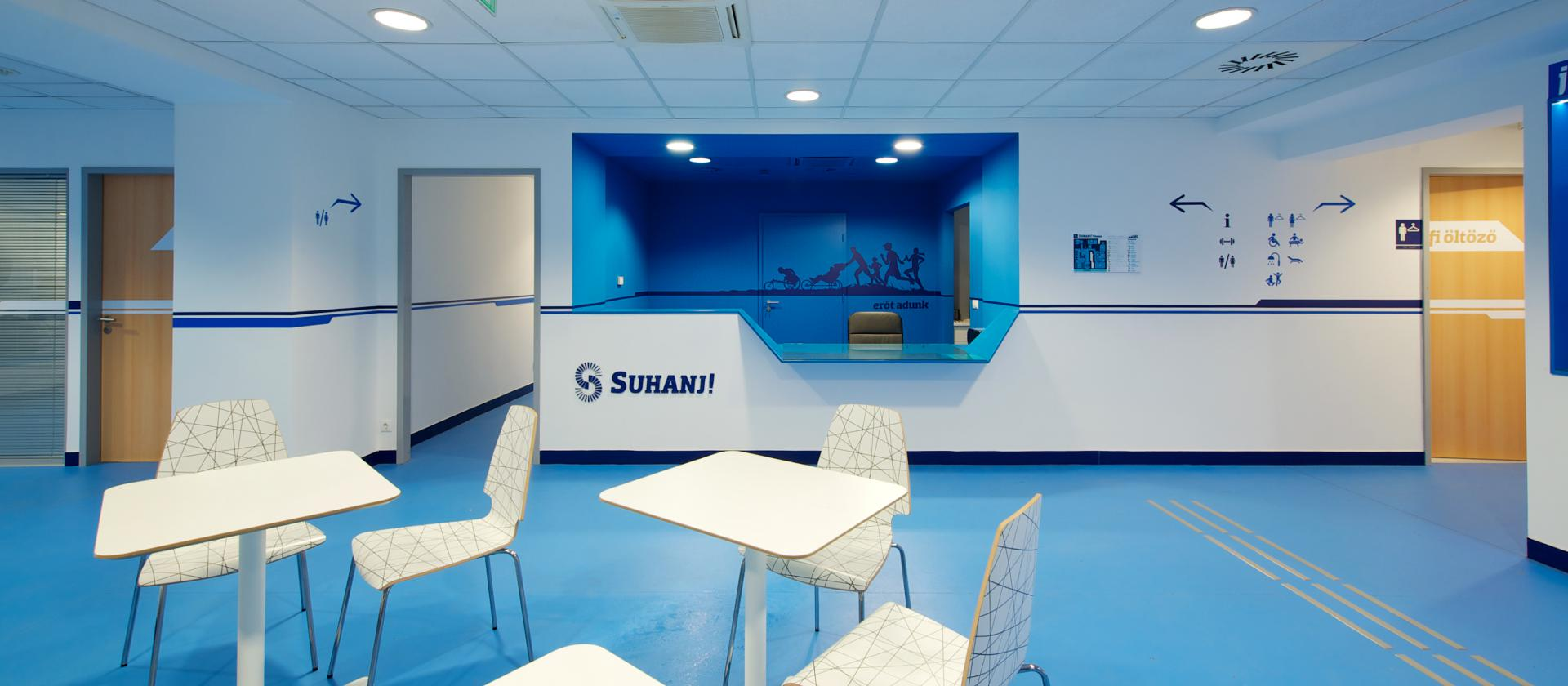 Reception and waiting area of SUHANJ! Fitness